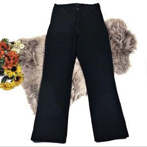 NYDJ High Rise Black Wash Bootcut Jeans